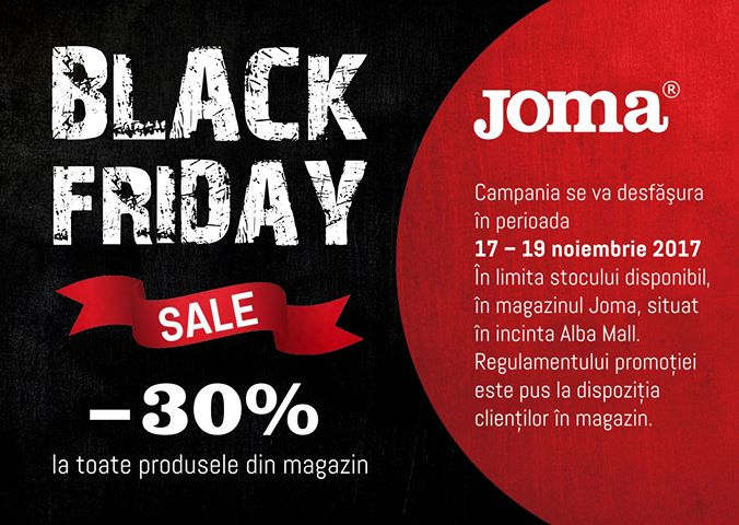 Black Friday – 30% reducere Joma