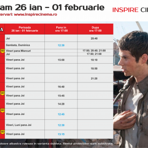 INSPIRE CINEMA PROGRAM 26 Ian – 1 Feb