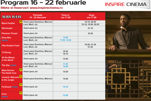 INSPIRE CINEMA PROGRAM 16 Feb – 22 Feb