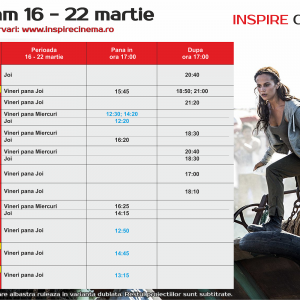 INSPIRE CINEMA PROGRAM  16 Mar – 22 Mar