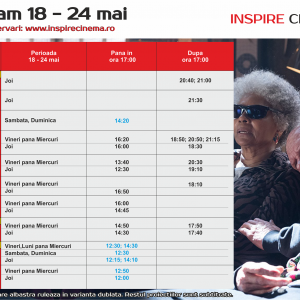 INSPIRE CINEMA PROGRAM  18 Mai – 24 Mai