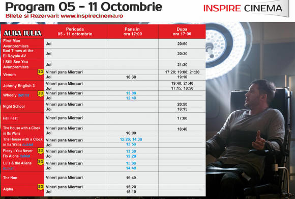 INSPIRE CINEMA PROGRAM  5 Oct – 11 Oct