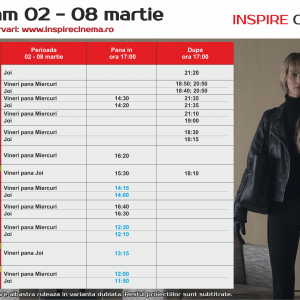 INSPIRE CINEMA PROGRAM  1 Mar – 8 Mar