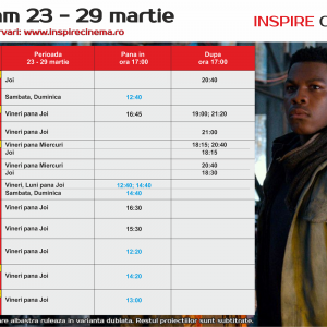 INSPIRE CINEMA PROGRAM  23 Mar – 29 Mar