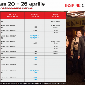 INSPIRE CINEMA PROGRAM  20 Apr – 26 Apr